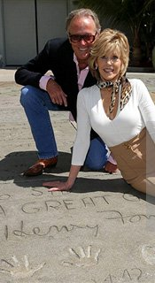 Jane Fonda Hand and Foot Print Ceremony